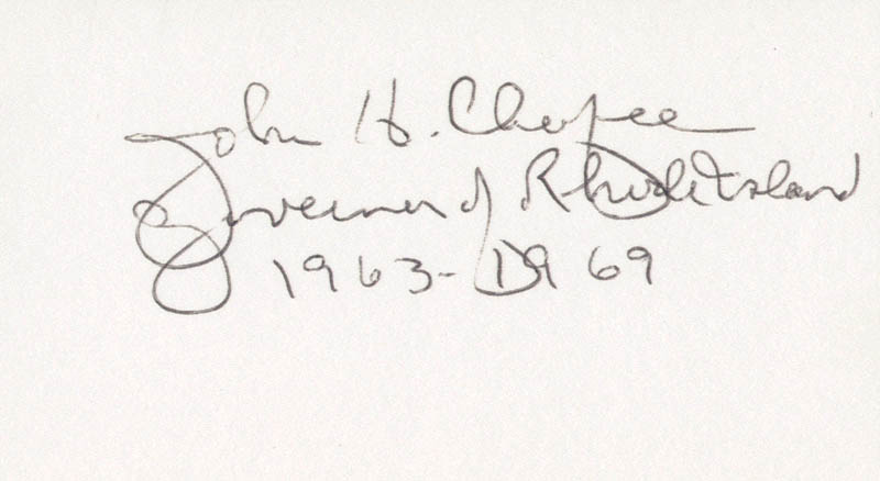 Image 1 for Governor John H. Chafee - Autograph - HFSID 70523