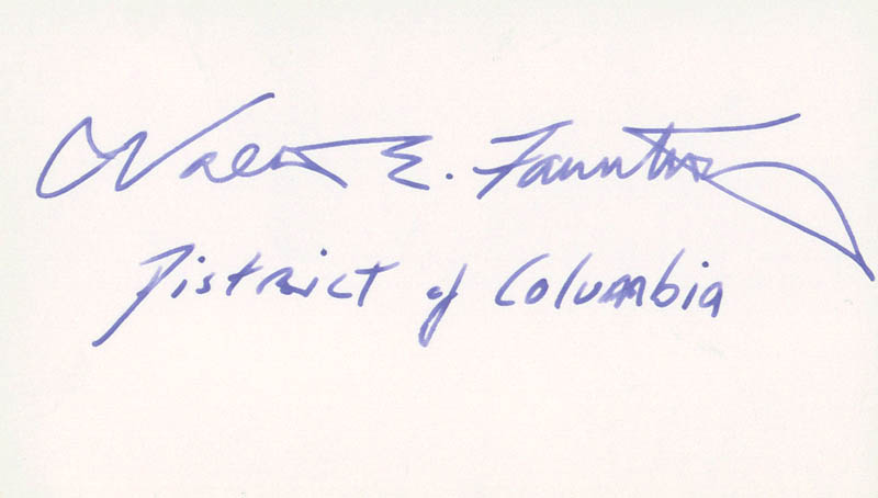 Image 1 for Walter E. Fauntroy - Autograph - HFSID 70674