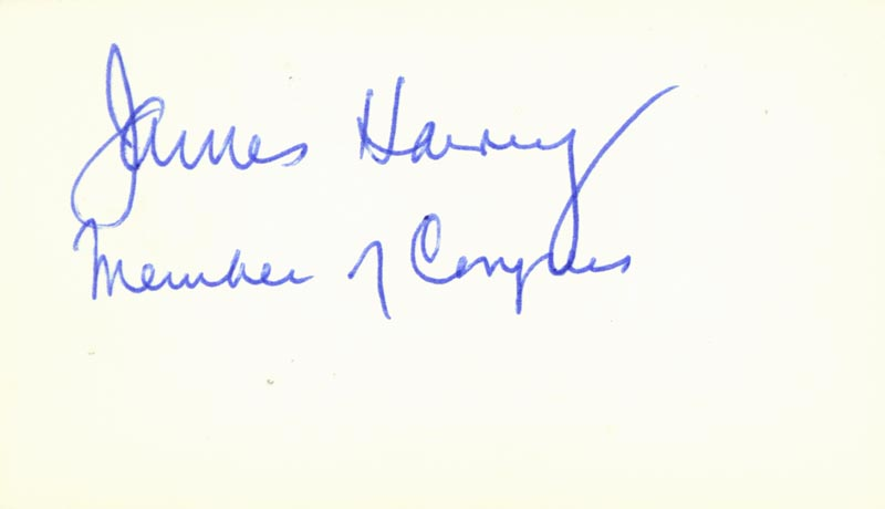 Image 1 for James Harvey - Autograph - HFSID 70785