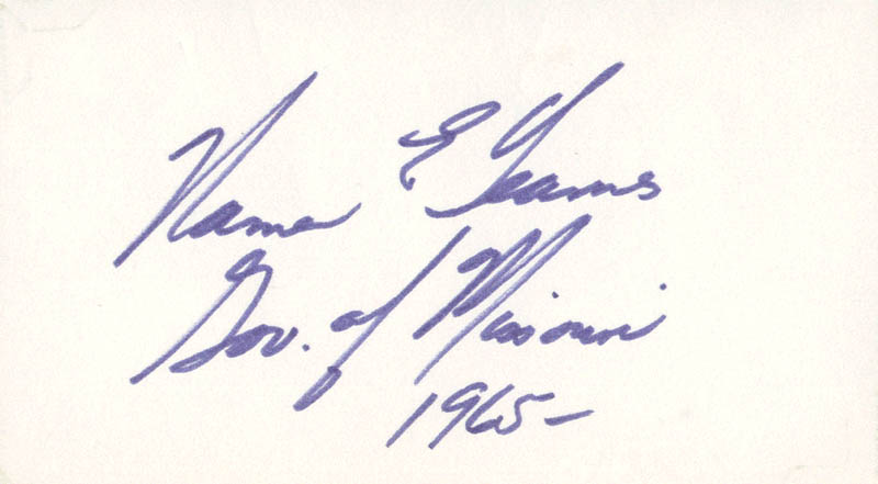 Image 1 for Governor Warren E. Hearnes - Autograph - HFSID 70832