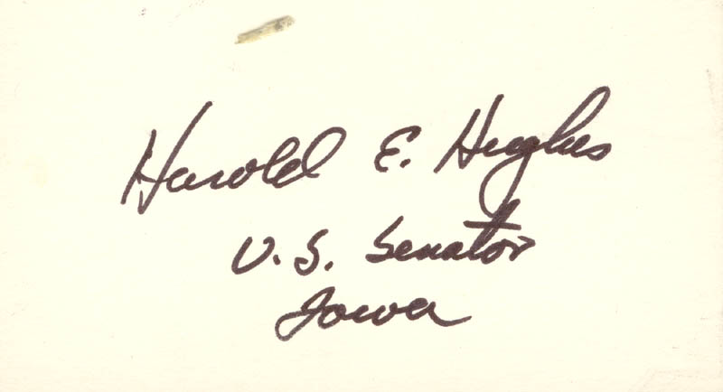 Image 1 for Harold E. Hughes - Autograph - HFSID 70881