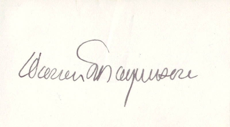 Image 1 for Warren G. Magnuson - Autograph - HFSID 71055