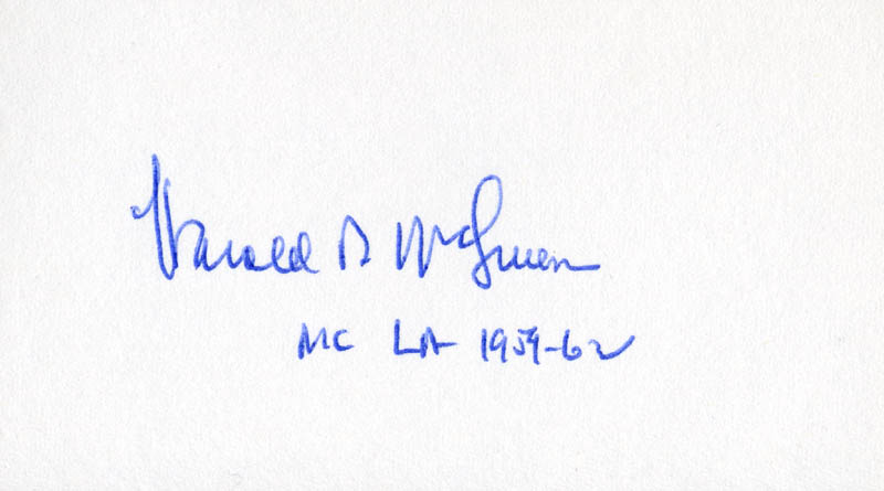 Image 1 for Harold B. Mcsween - Autograph - HFSID 71102