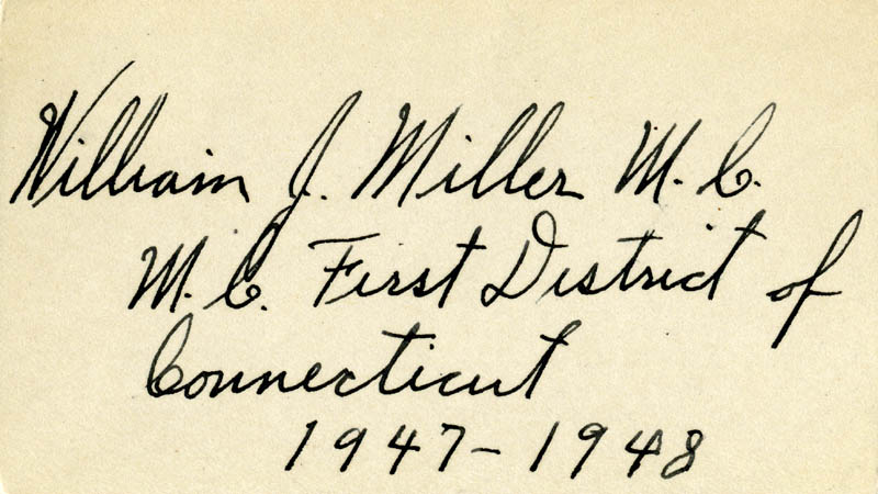 Image 1 for William J. Miller - Autograph - HFSID 71131