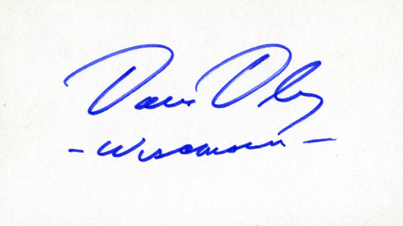 Image 1 for David R. Obey - Autograph - HFSID 71213