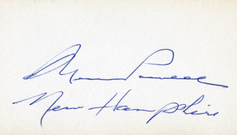 Image 1 for Governor Wesley Powell - Autograph - HFSID 71260