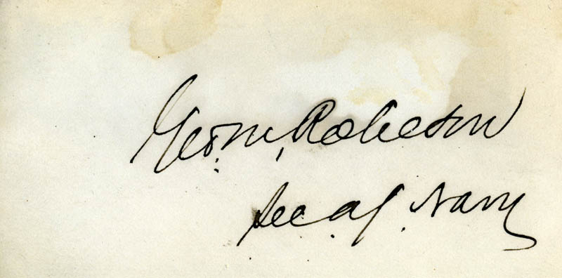 Image 1 for George M. Robeson - Autograph - HFSID 71321
