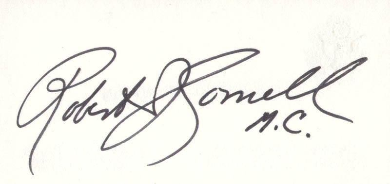Image 1 for Rev. Robert J. Cornell - Business Card Signed - HFSID 71339