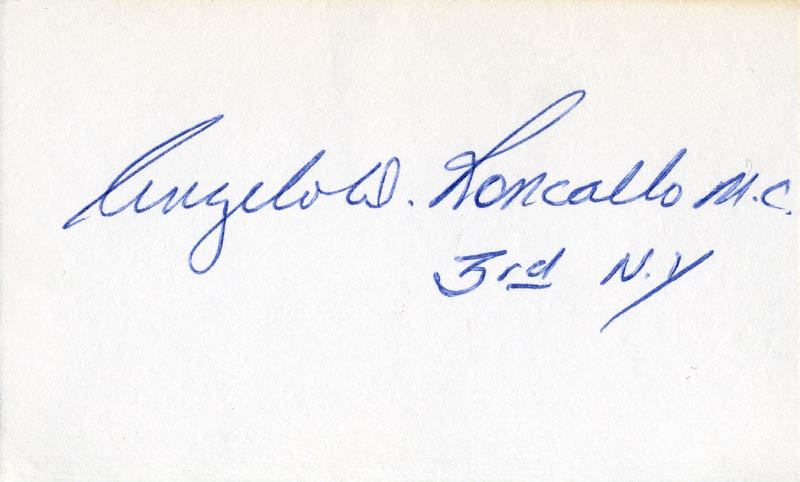 Image 1 for Angelo D. Roncallo - Autograph - HFSID 71341