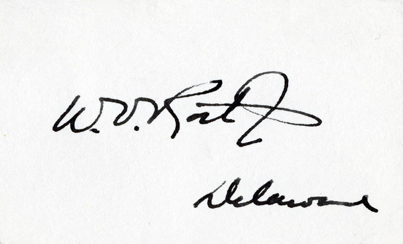 Image 1 for William Victor Roth Jr. - Autograph - HFSID 71346