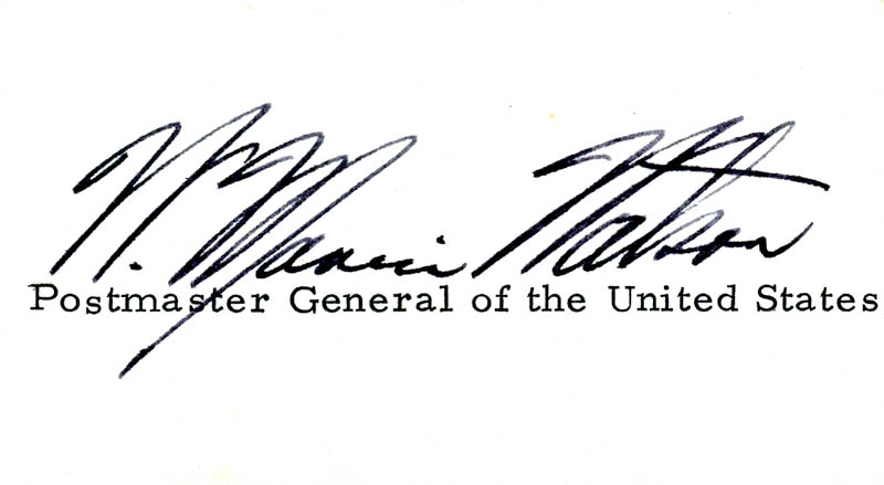 Image 1 for William Marvin Watson - Autograph - HFSID 71544