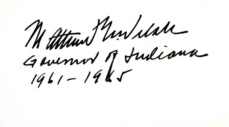 Image 1 for Governor Matthew E. Welsh - Autograph - HFSID 71549