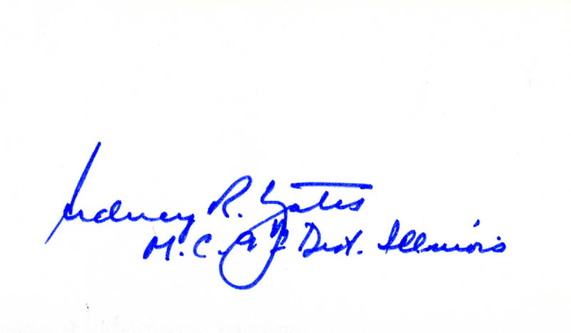 Image 1 for Sidney Richard Yates - Autograph - HFSID 71596
