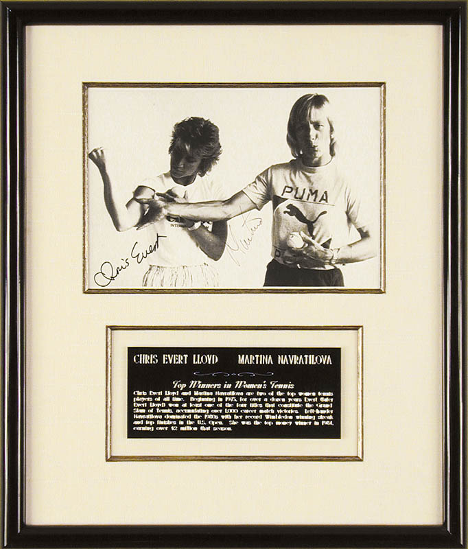 Image 1 for Martina Navratilova - Autographed Signed Photograph co-signed by: Chris Evert - HFSID 71625