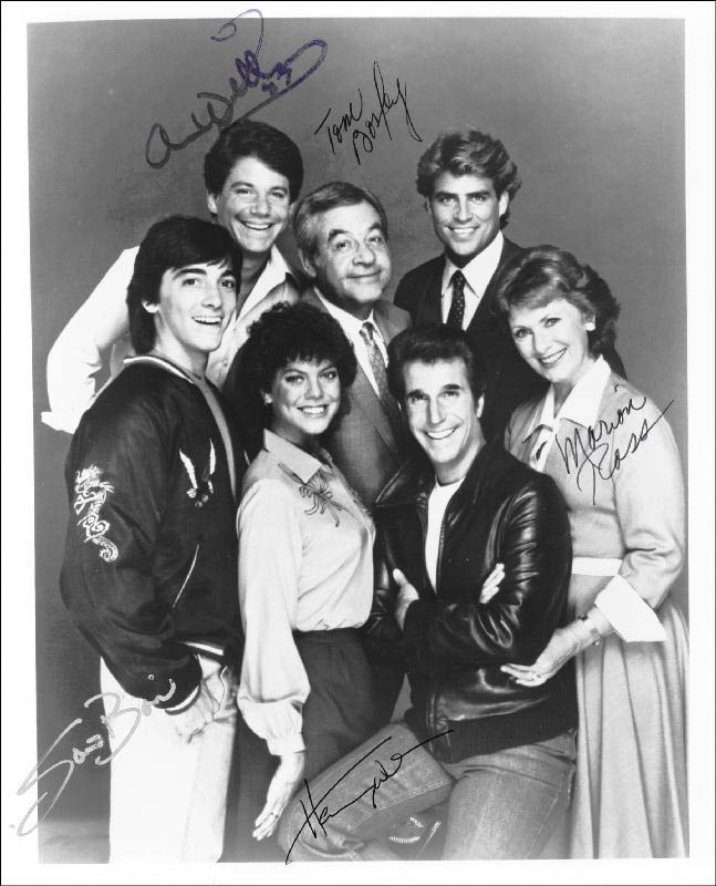 Image 1 for Happy Days TV Cast - Autographed Signed Photograph 1987 with co-signers - HFSID 71641