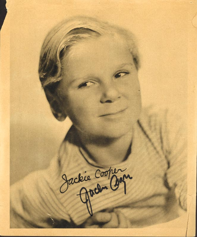Image 1 for Jackie Cooper - Autographed Signed Photograph - HFSID 71752