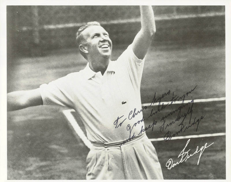Image 1 for Don Budge - Autographed Inscribed Photograph - HFSID 72190