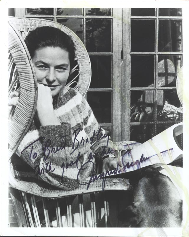 Image 1 for Ingrid Bergman - Autographed Inscribed Photograph - HFSID 72281