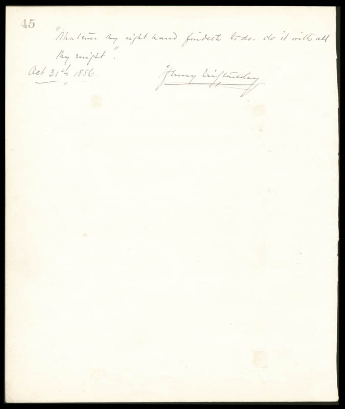 Image 1 for Henry M. Stanley - Autograph Quotation Signed 10/31/1886 with co-signers - HFSID 72283