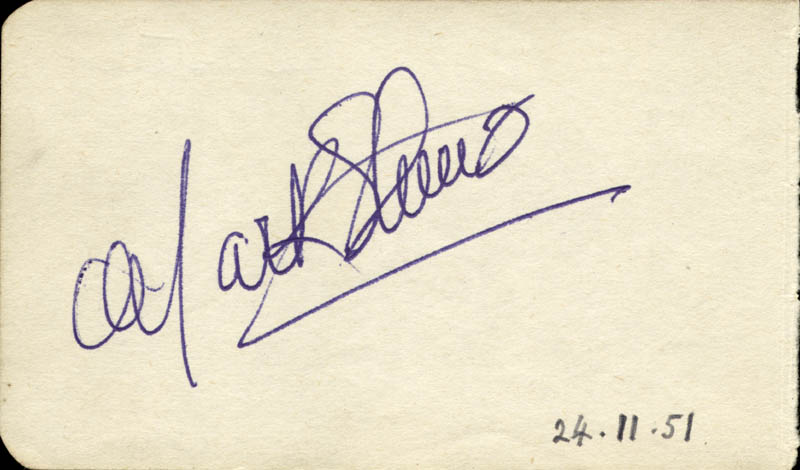 Image 3 for Abbott & Costello (Lou Costello) - Inscribed Signature Circa 1950 co-signed by: Mark Stevens - HFSID 72332