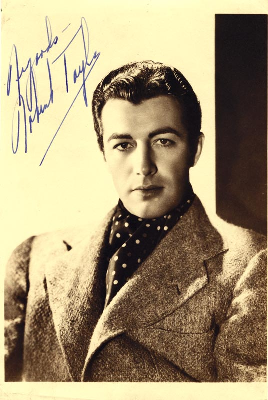 Image 1 for Robert Taylor - Autographed Signed Photograph - HFSID 72335