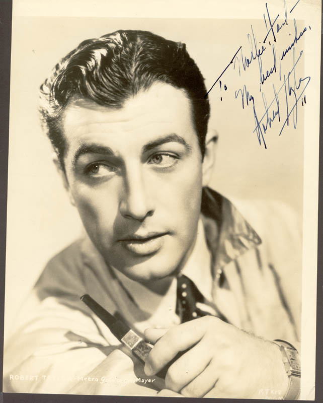 Image 1 for Robert Taylor - Autographed Inscribed Photograph - HFSID 72338