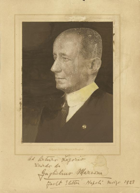 Image 1 for Guglielmo M. Marconi - Inscribed Photograph Mount Signed 3/1928 - HFSID 72350