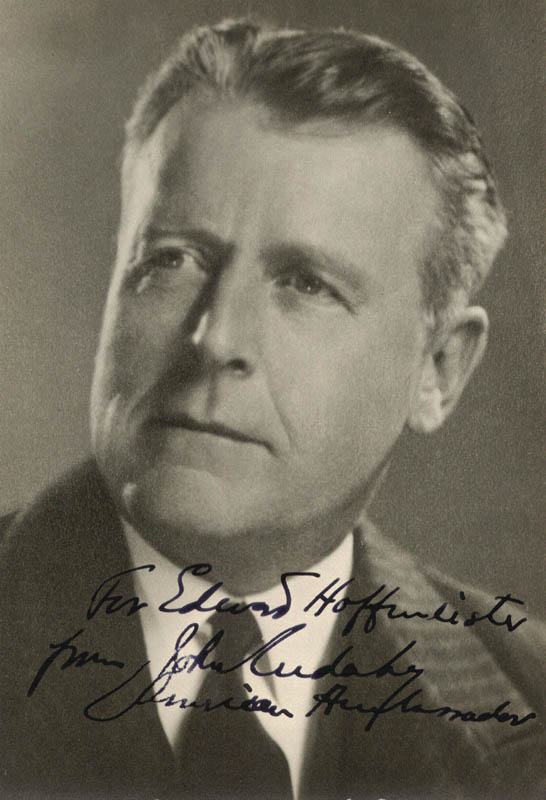 Image 1 for John Cudahy - Autographed Inscribed Photograph - HFSID 72477
