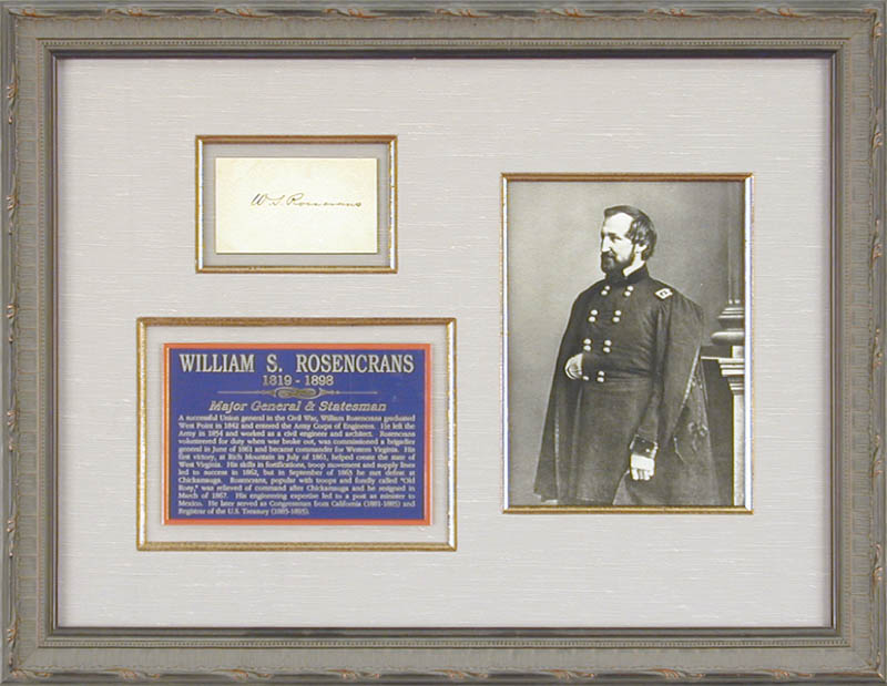 Image 1 for Major General William S. 'Old Rosy' Rosecrans - Autograph - HFSID 72593
