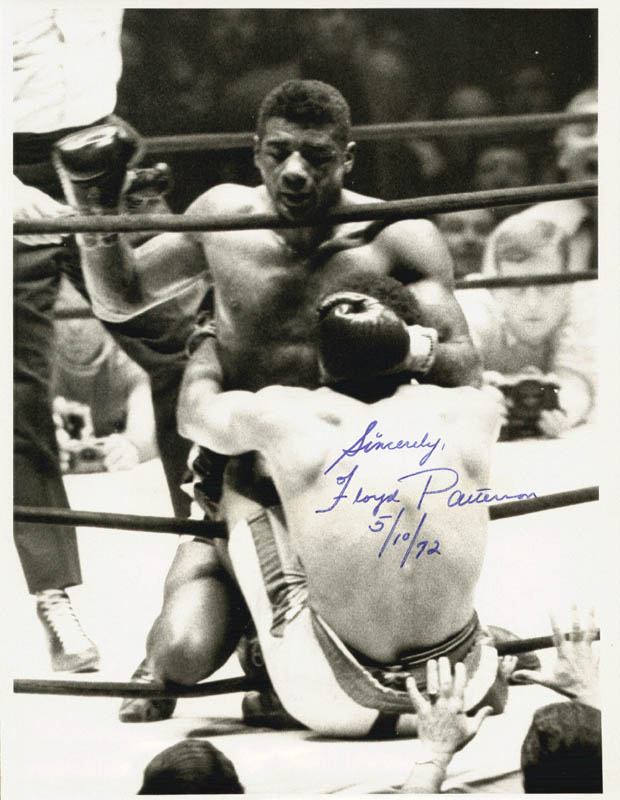 Image 1 for Floyd Patterson - Autographed Signed Photograph 05/10/1972 - HFSID 72678