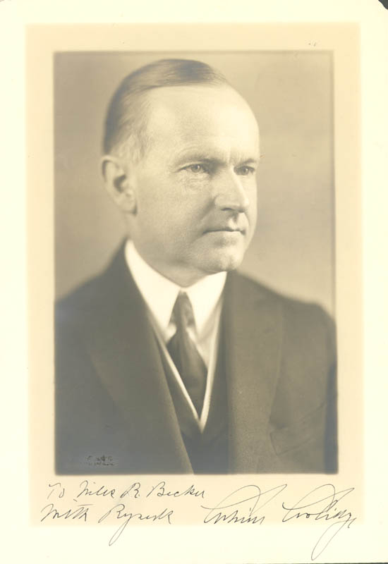 Image 1 for President Calvin Coolidge - Autographed Inscribed Photograph - HFSID 72737