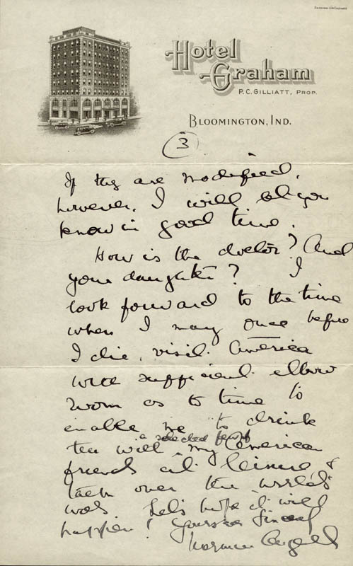 Image 2 for Sir Norman Angell - Autograph Letter Signed 11/16 - HFSID 72949