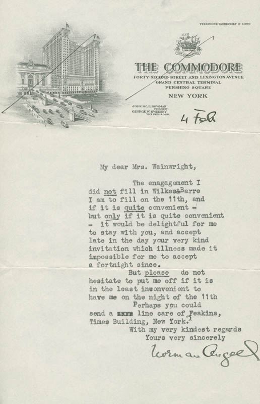 Image 1 for Sir Norman Angell - Typed Letter Signed 2/4 - HFSID 72950