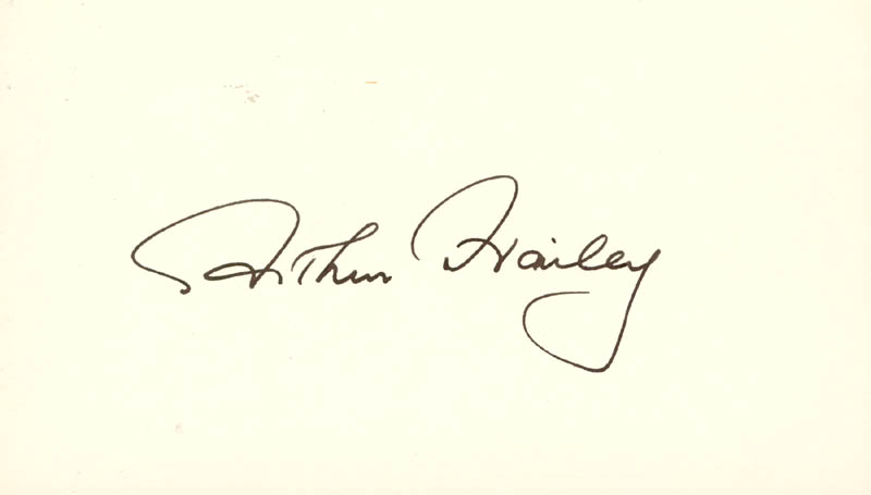 Image 1 for Arthur Hailey - Autograph - HFSID 73013