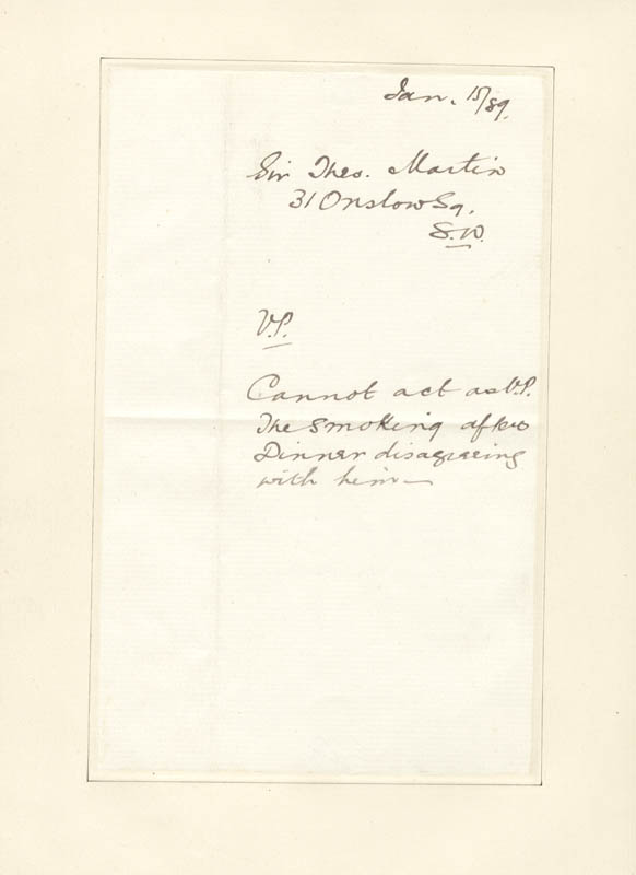 Image 3 for Sir Theodore Martin - Autograph Letter Signed 01/14/1887 - HFSID 73065