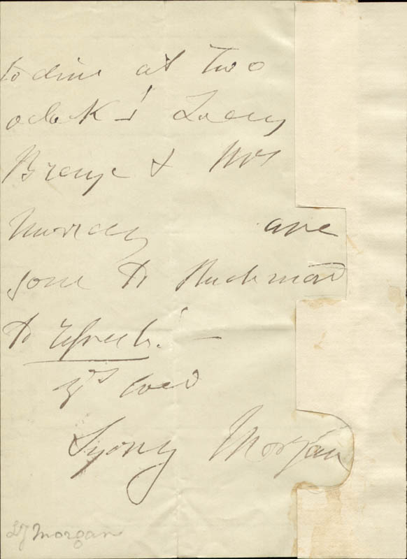 Image 1 for Sydney Morgan - Autograph Letter Signed 04/03/1849 - HFSID 73140