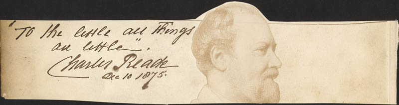 Image 1 for Charles Reade - Autograph Quotation Signed 12/10/1875 - HFSID 73167