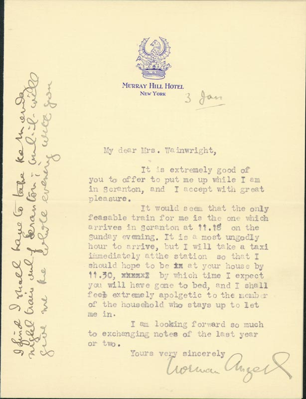 Image 1 for Sir Norman Angell - Typed Letter Signed 1/3 - HFSID 73253