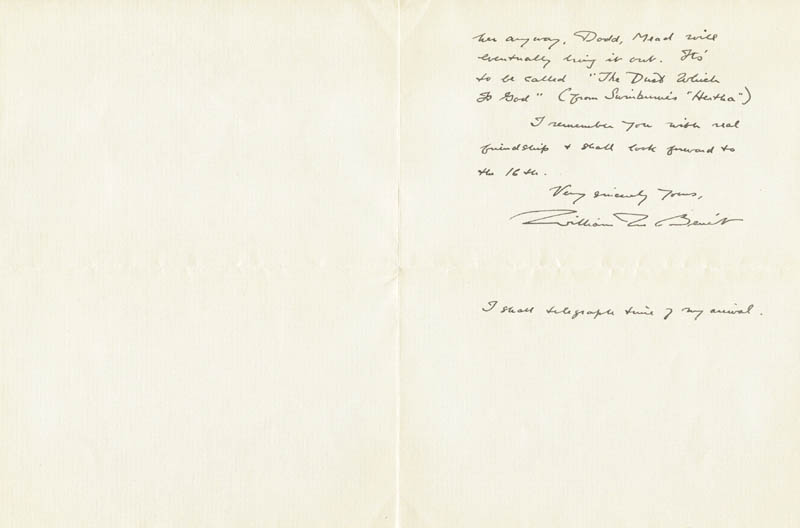 Image 1 for William Rose Benet - Autograph Letter Signed 12/06/1940 - HFSID 73285