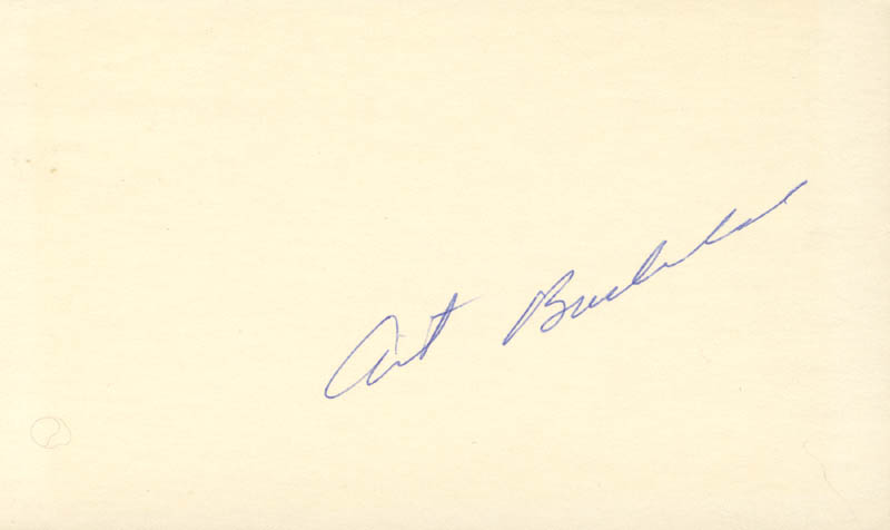 Image 1 for Art Buchwald - Autograph - HFSID 73292
