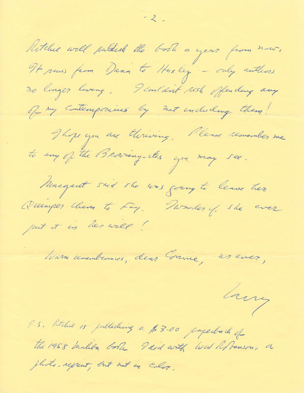Image 3 for Lawrence Clark Powell - Autograph Letter Signed 02/19/1970 - HFSID 73574