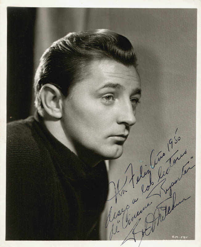 Image 1 for Robert Mitchum - Autographed Inscribed Photograph 1950 - HFSID 73646