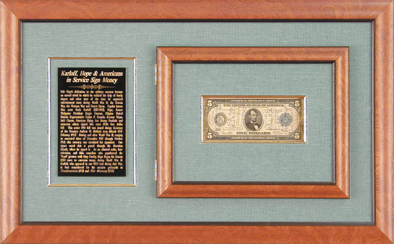 Image 1 for Boris Karloff - Currency Signed with co-signers - HFSID 73800