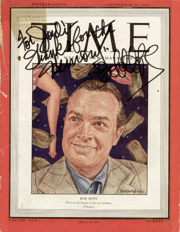 Image 1 for Bob Hope - Inscribed Magazine Cover Signed - HFSID 74116