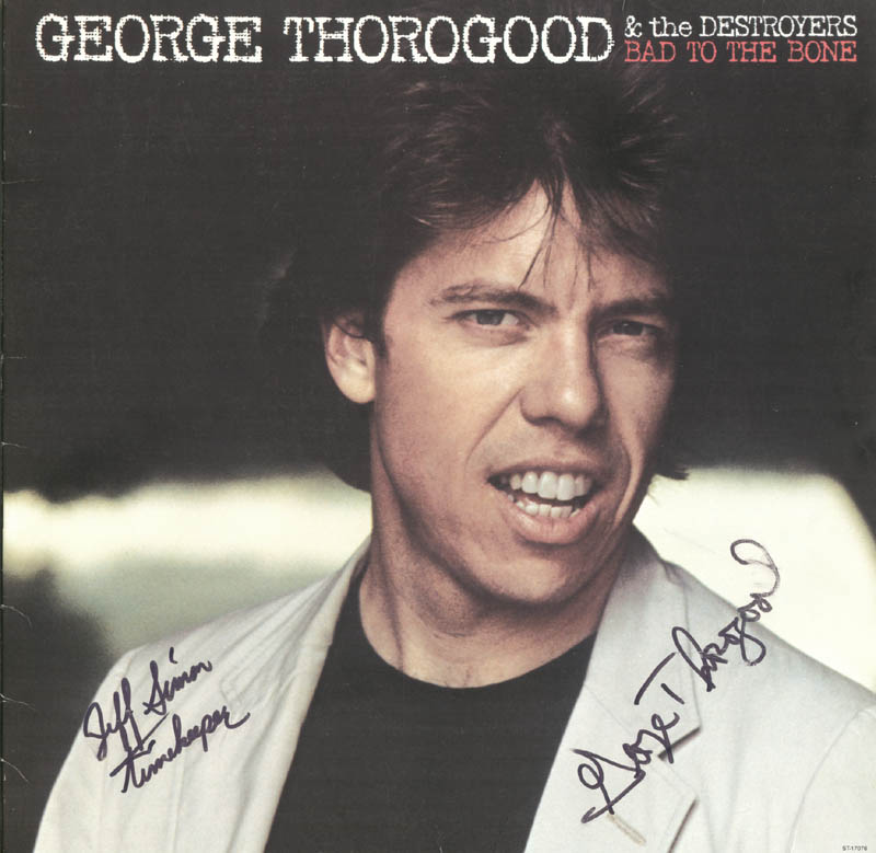 Image 1 for George Thorogood - Record Album Cover Signed - HFSID 74201