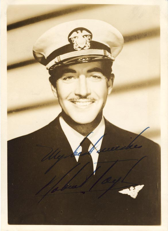 Image 1 for Robert Taylor - Autographed Signed Photograph - HFSID 74215