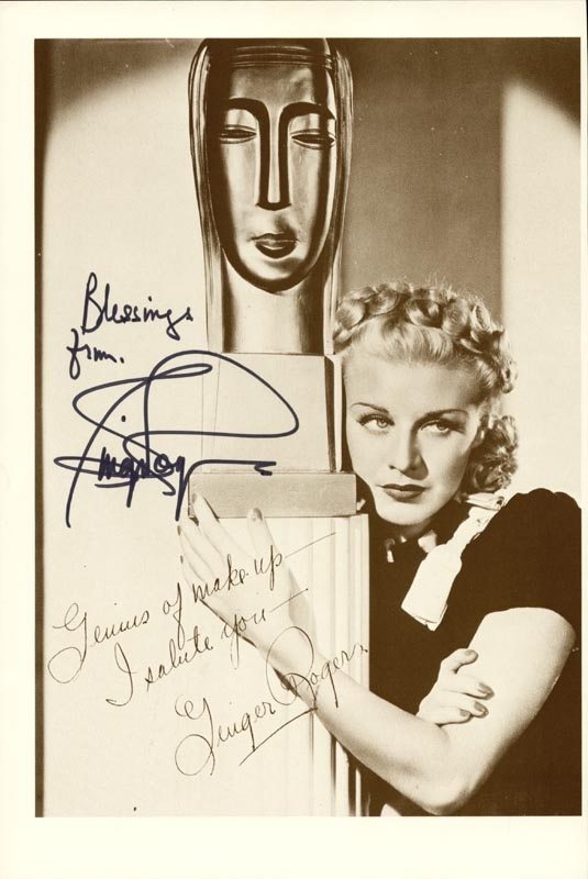 Image 1 for Ginger Rogers - Autographed Inscribed Photograph - HFSID 74263