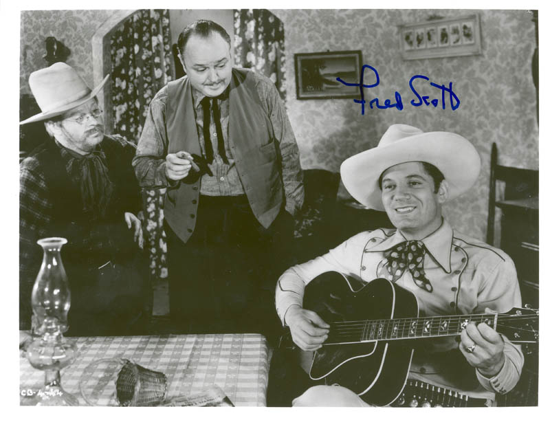 Image 1 for Fred L. 'The Singing Buckaroo' Scott - Autographed Signed Photograph - HFSID 74409