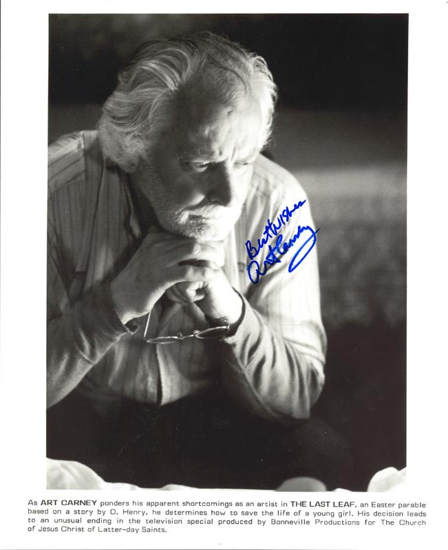 Image 1 for Art Carney - Autographed Signed Photograph - HFSID 74491