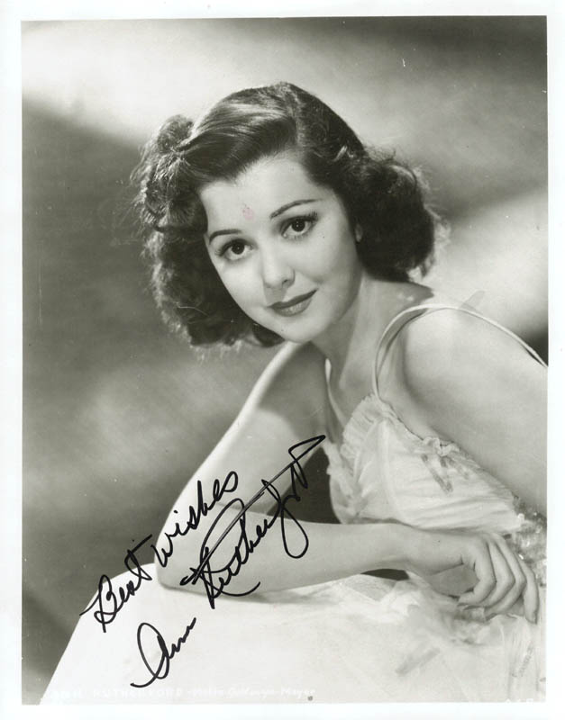 Image 1 for Ann Rutherford - Autographed Signed Photograph - HFSID 74499
